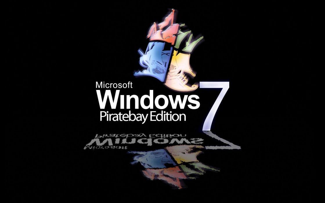 Windows 7 piracy wallpaper
