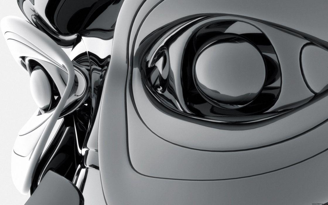 robot digital art wallpaper