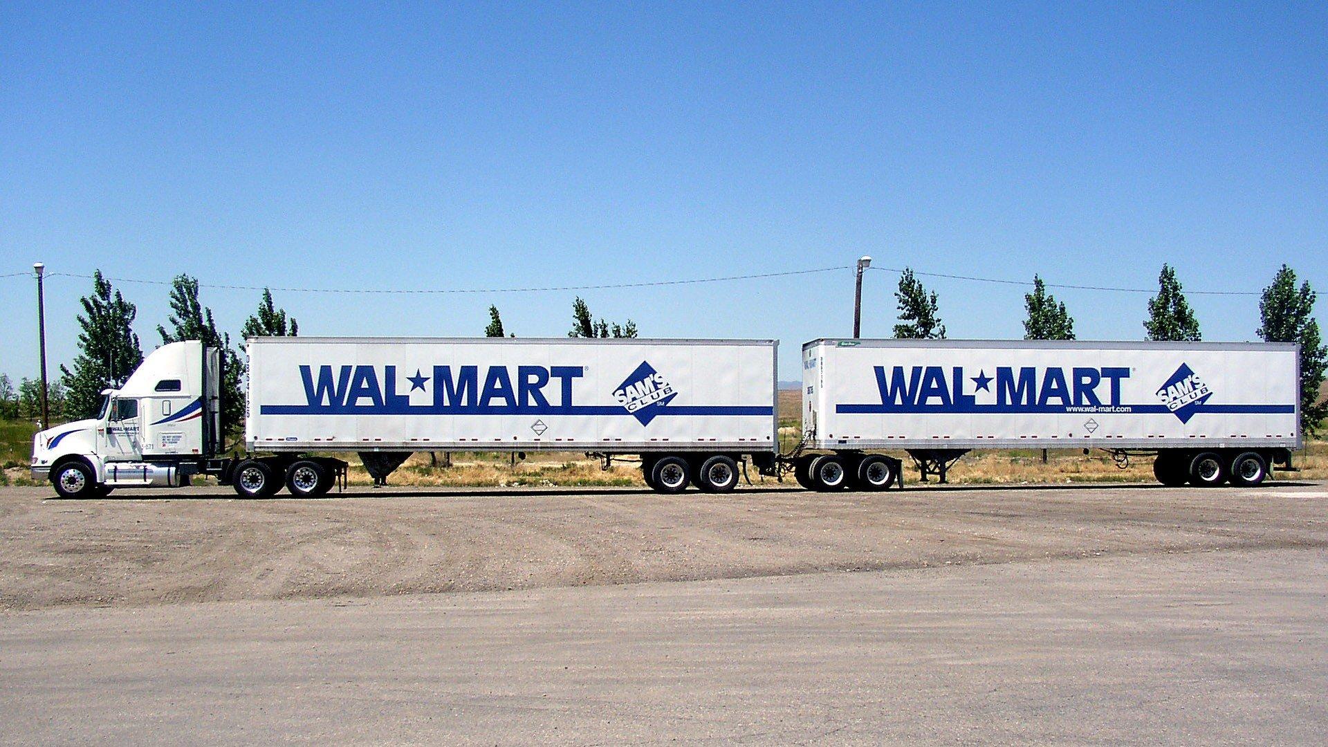 Trucks semi walmart turnpike doubles vehicles wallpaper for Walmart wallpaper