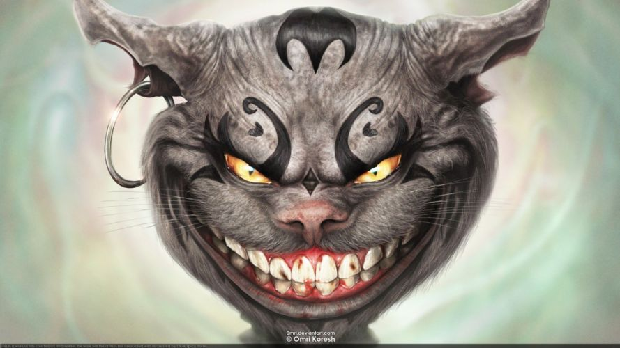 Cheshire Cat American McGees Alice wallpaper
