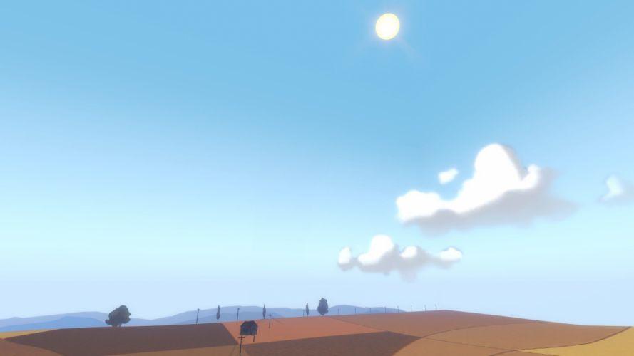 clouds Sun Team Fortress 2 skyscapes farmland wallpaper
