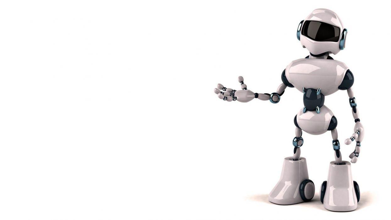 robot design digital art white background wallpaper