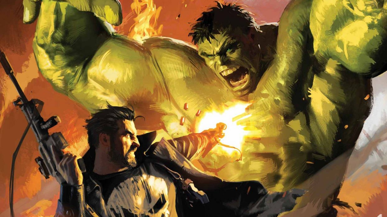 Hulk (comic character) The Punisher artwork Marvel Comics wallpaper