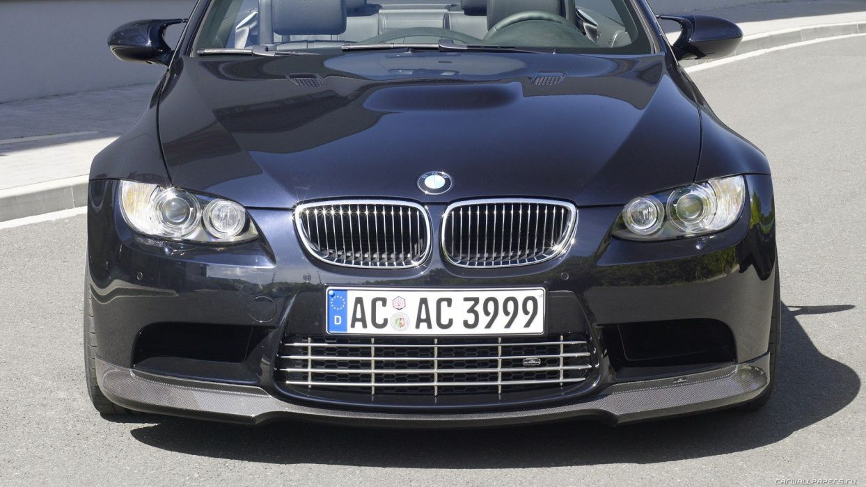 cars parking vehicles convertible BMW M3 AC Schnitzer front view headlights BMW M3 E92 wallpaper