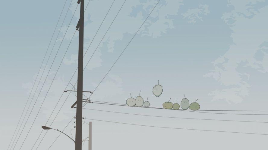power lines Dennou Coil wallpaper