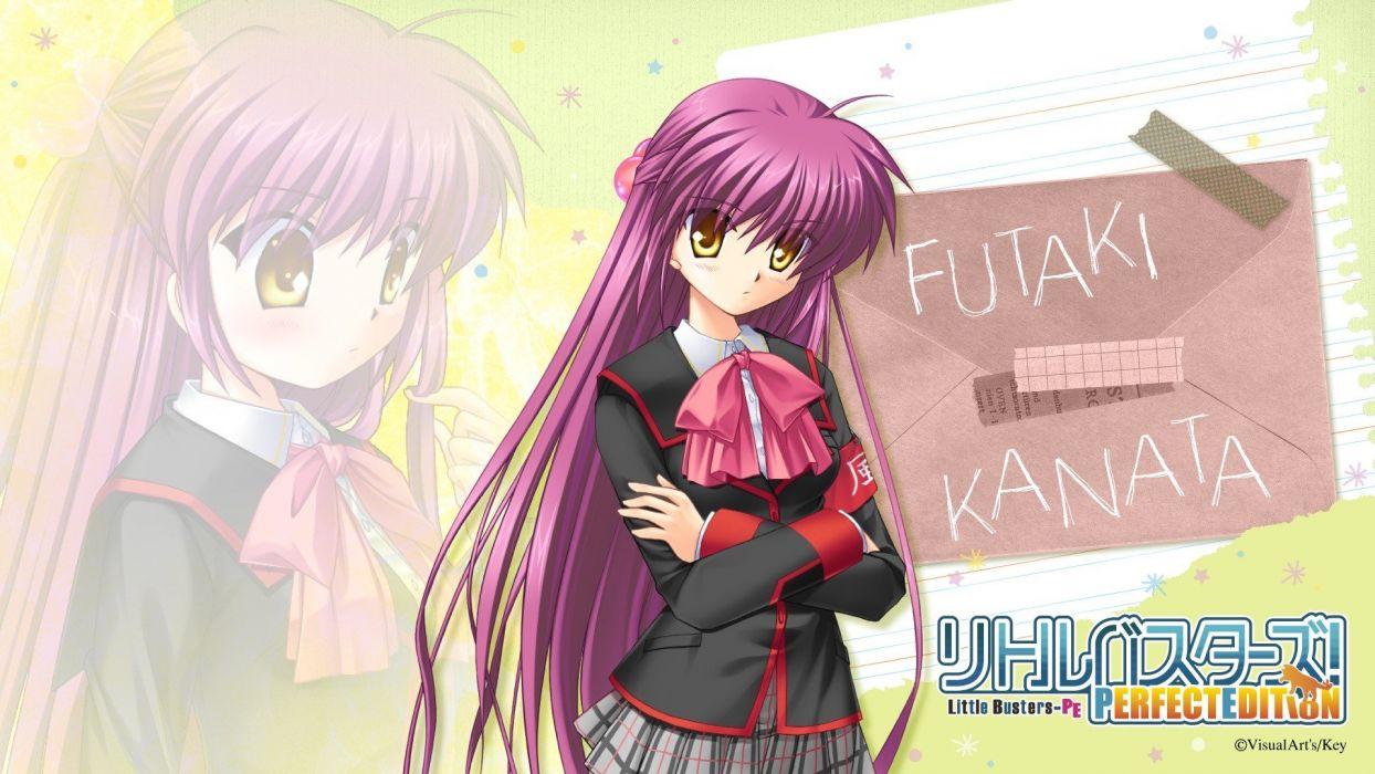 school uniforms visual novels Little Busters! Hinoue Itaru wallpaper