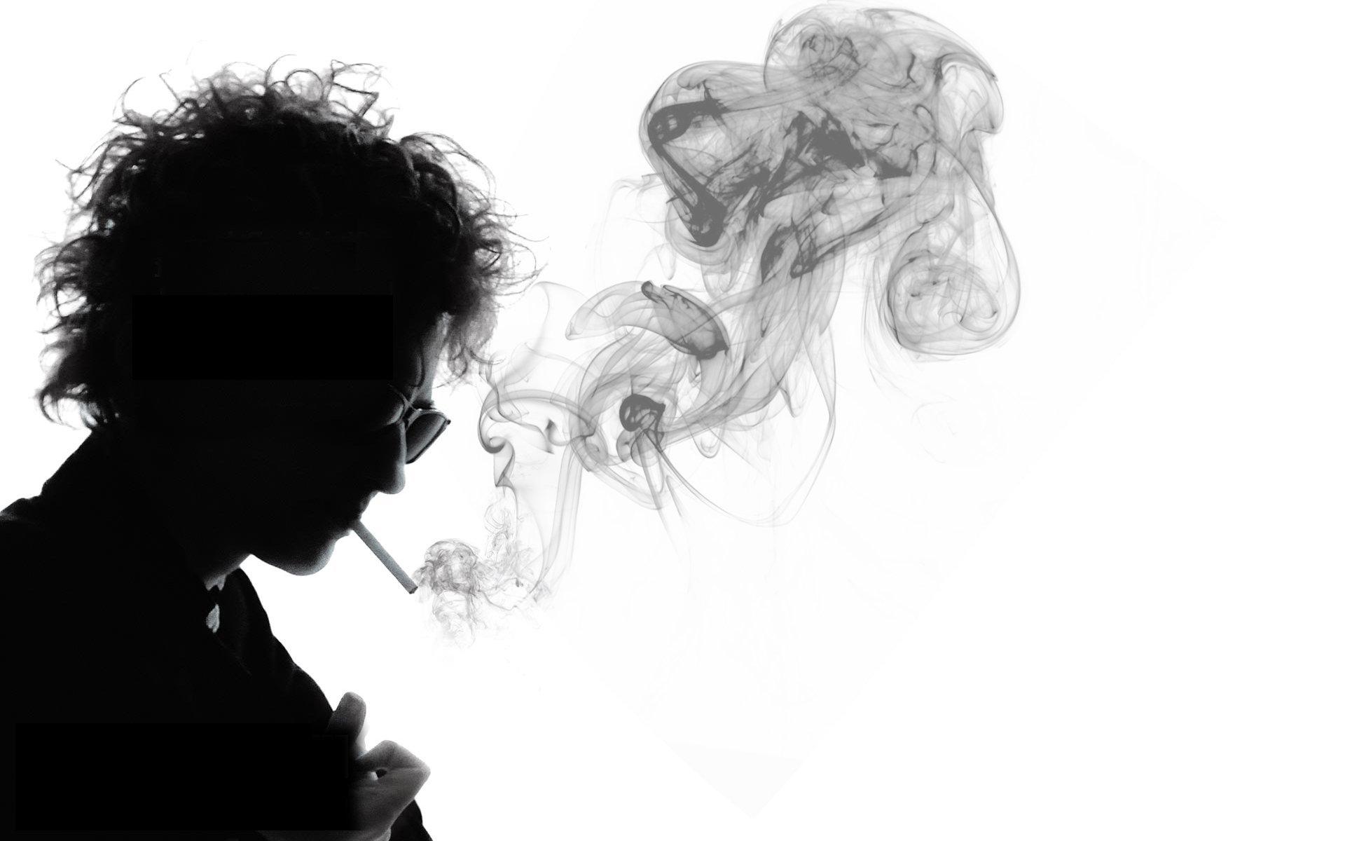 smoking bob dylan grayscale musicians wallpaper