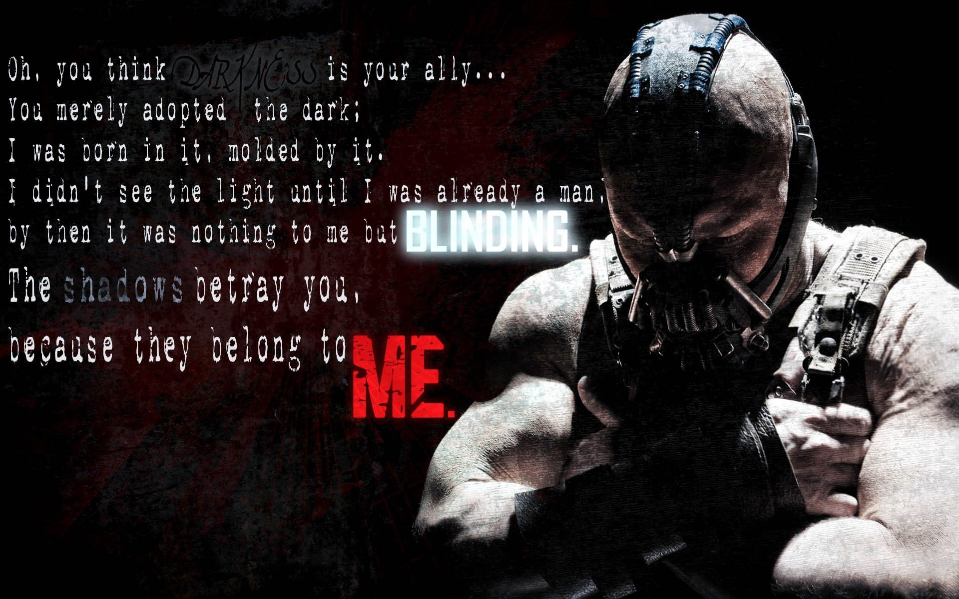 Quotes From Batman Movies Batman Movies Text Bane Batman