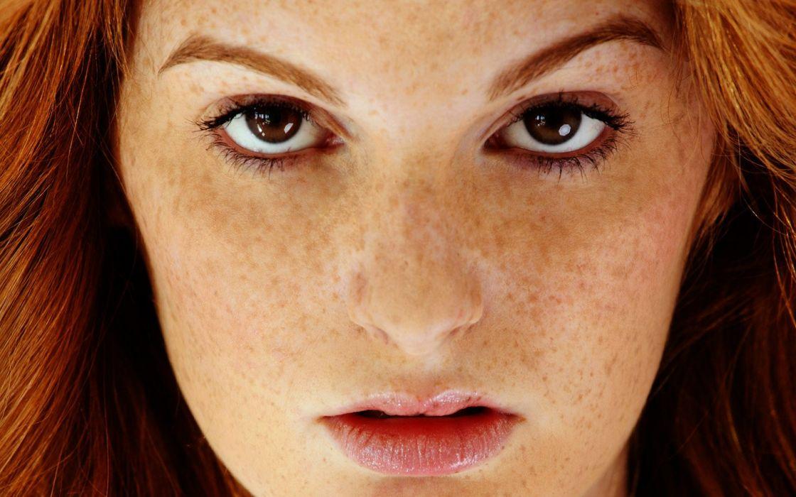 women redheads freckles Faye Reagan wallpaper