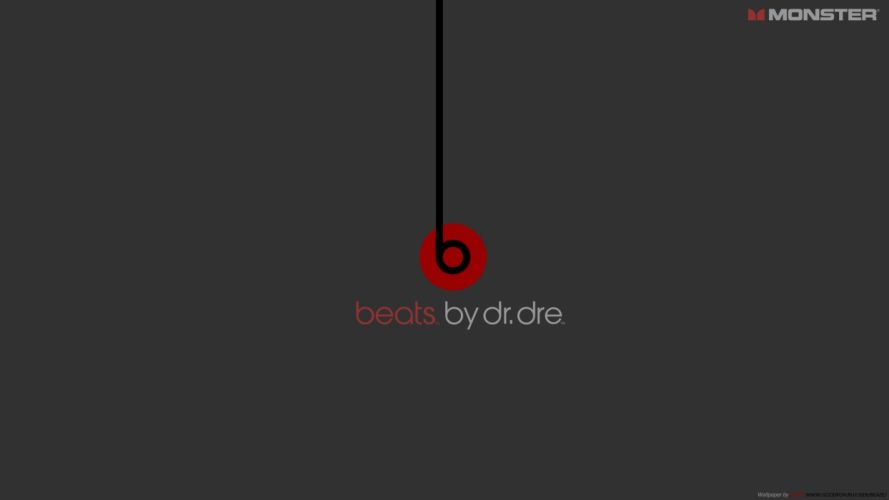 minimalistic red logos Beats by Dr_Dre Dr_Dre wallpaper