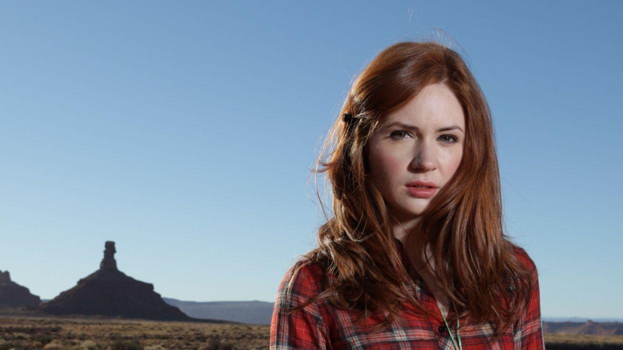 women redheads Karen Gillan Amy Pond Doctor Who wallpaper