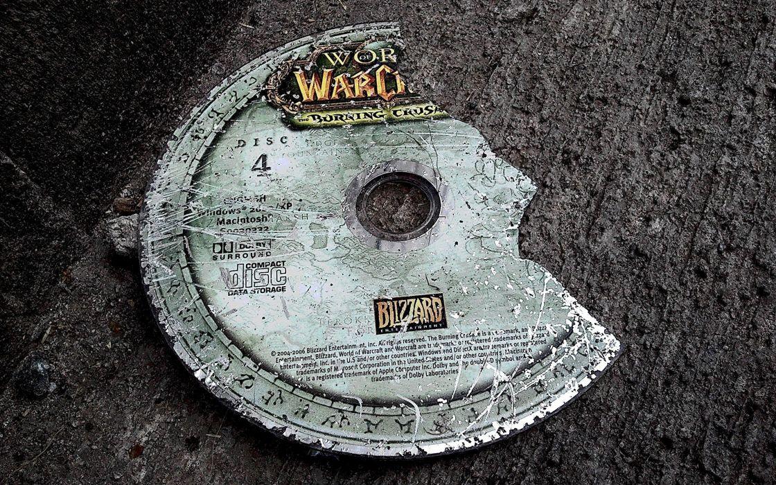 World of Warcraft broken compact disc wallpaper