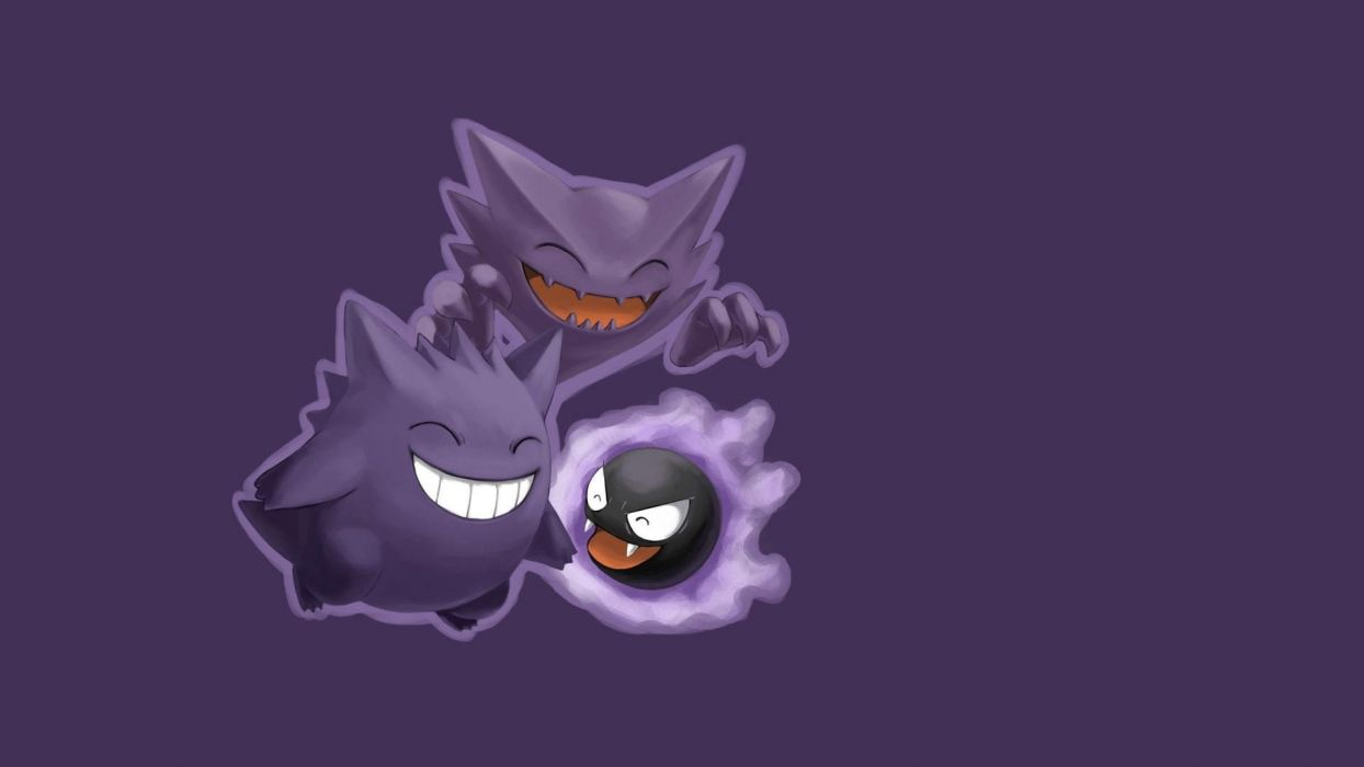 Pokemon Gengar Haunter anime simple background Gastly wallpaper