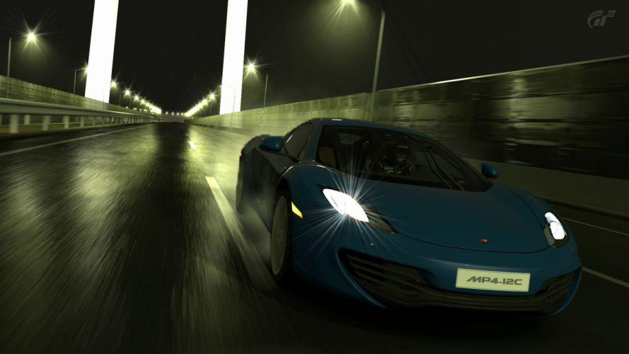 video games cars McLaren MP4-12C Gran Turismo 5 Playstation 3 wallpaper