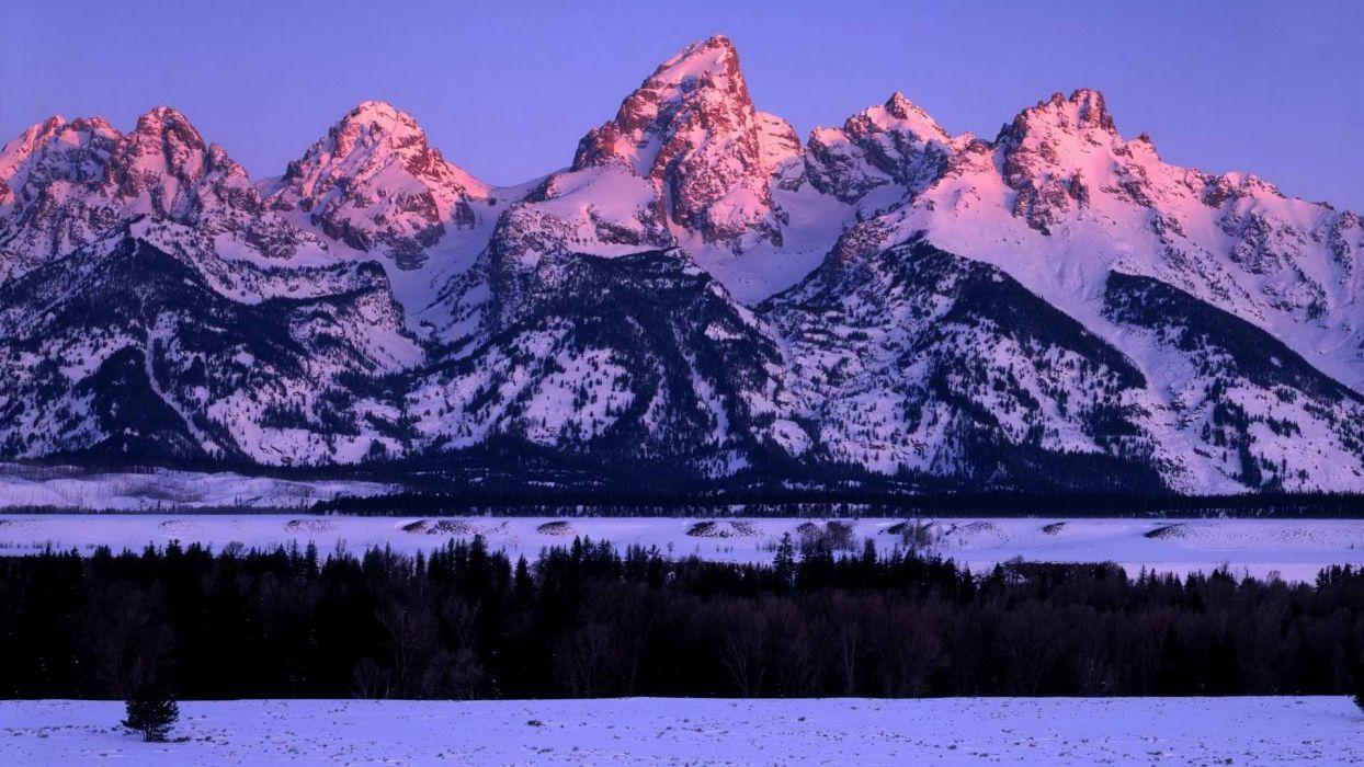 Sunrise Wyoming Grand Teton National Park Glow Range National Park