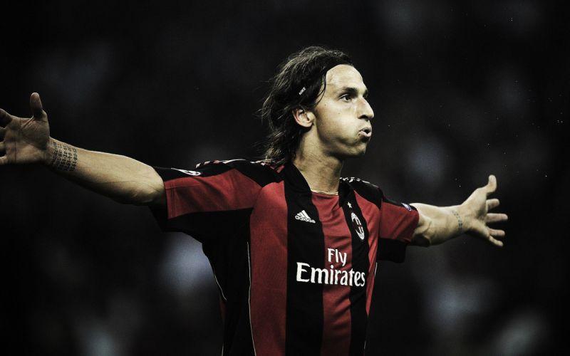 soccer AC Milan Zlatan Ibrahimovic wallpaper