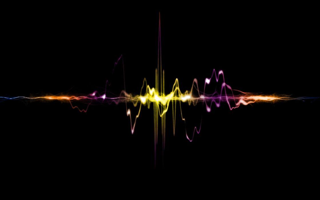 waves sound oscilloscope wallpaper