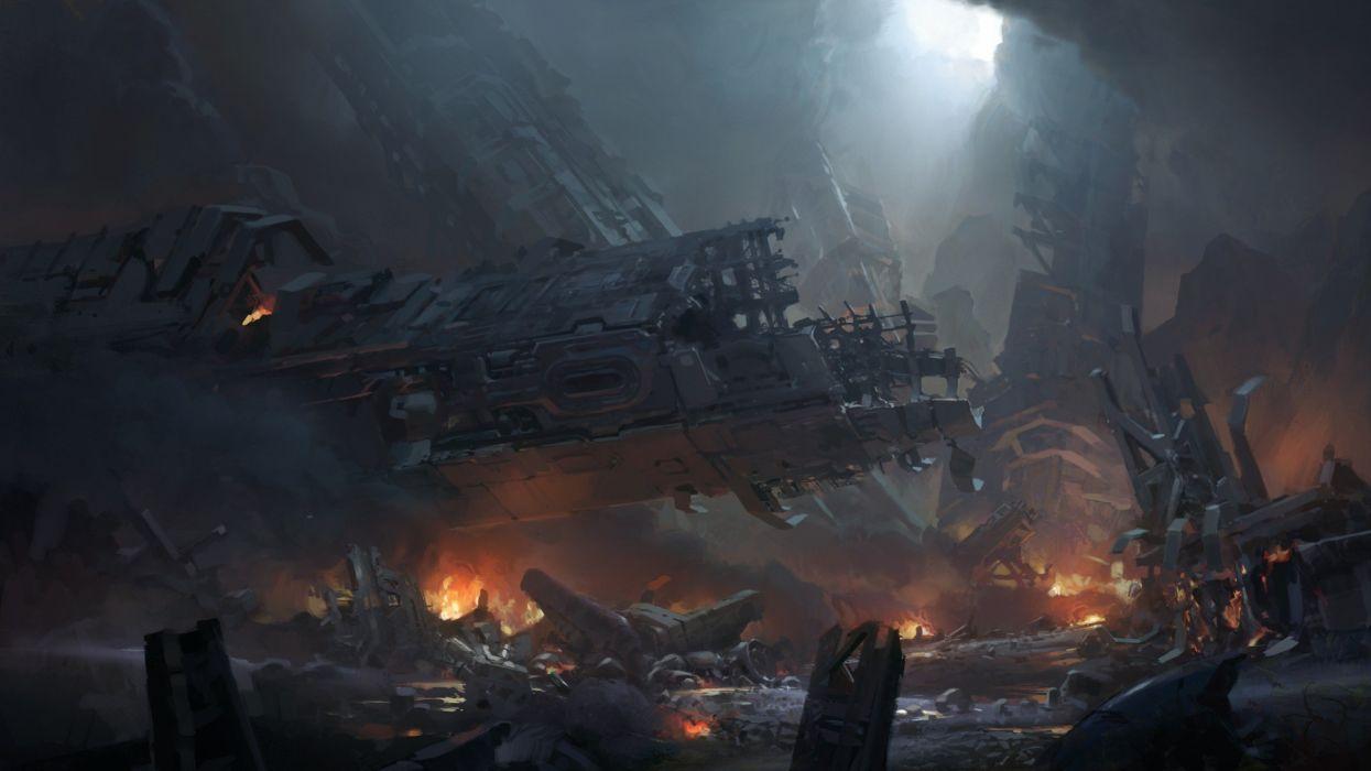 video games futuristic digital art concept art artwork Halo 4 wallpaper