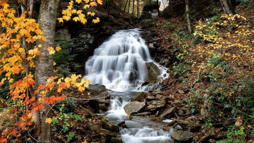 landscapes nature Pennsylvania waterfalls wallpaper