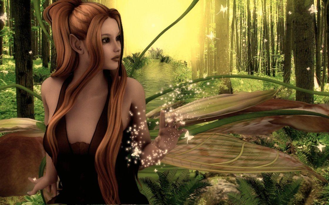 fairies fantasy art wallpaper
