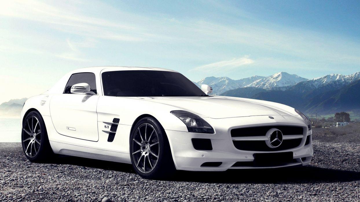 mountains cars roads vehicles Mercedes-Benz Mercedes Benz Sls Amg wallpaper