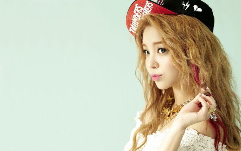 blondes women piercings Asians hats simple background wallpaper
