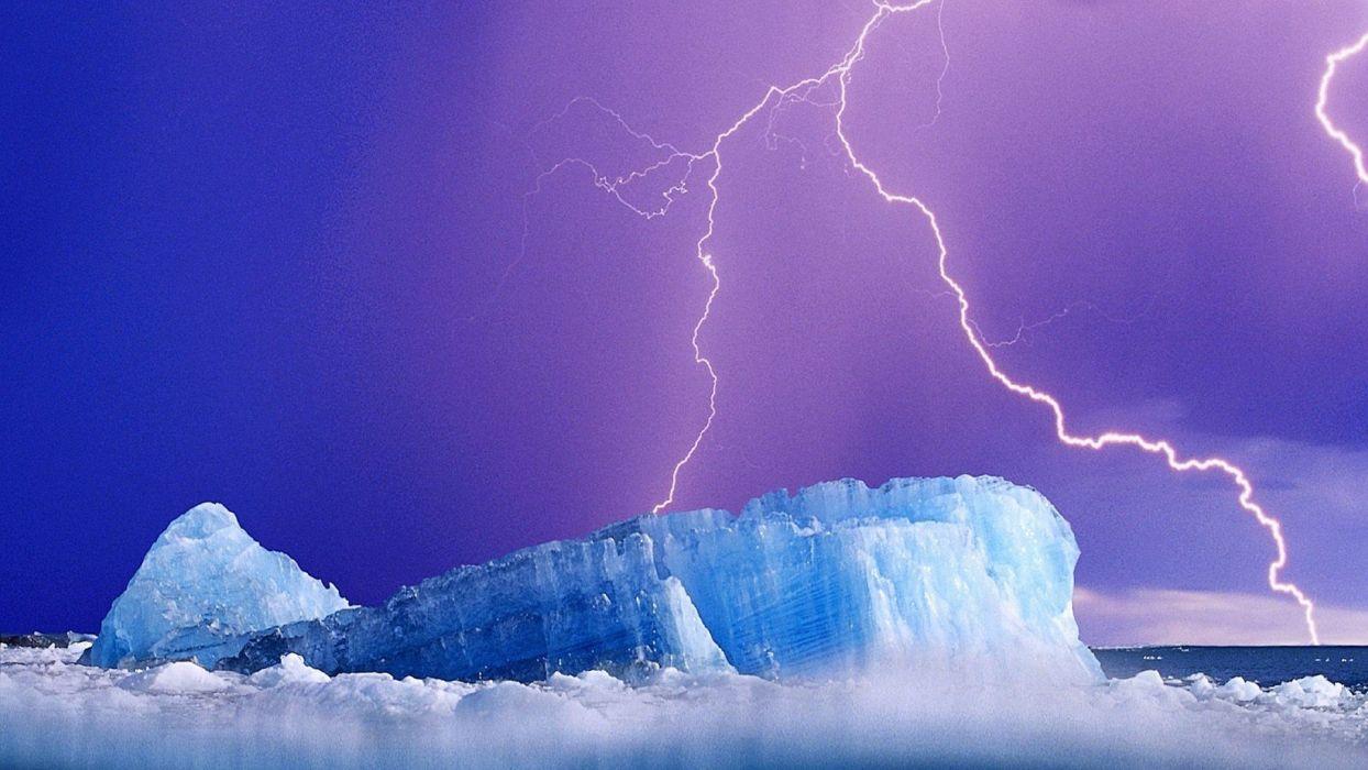 ice lightning wallpaper