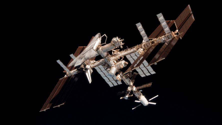 outer space International Space Station wallpaper