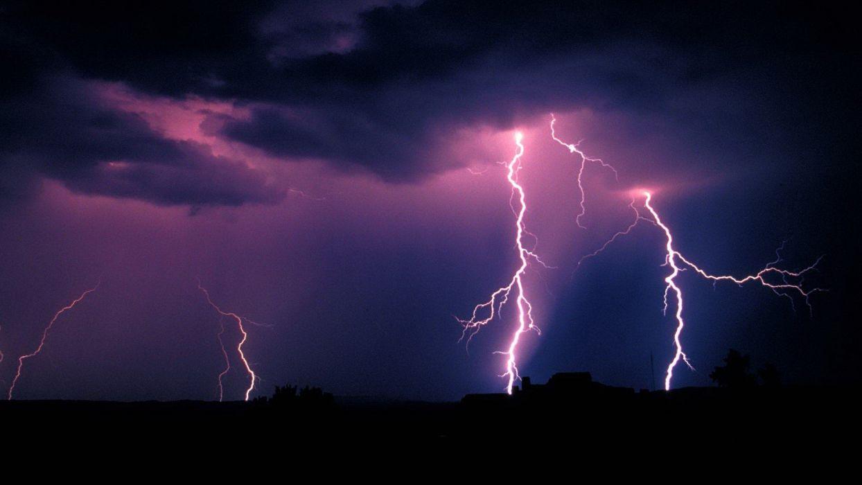 forests storm Arizona lightning National Park wallpaper