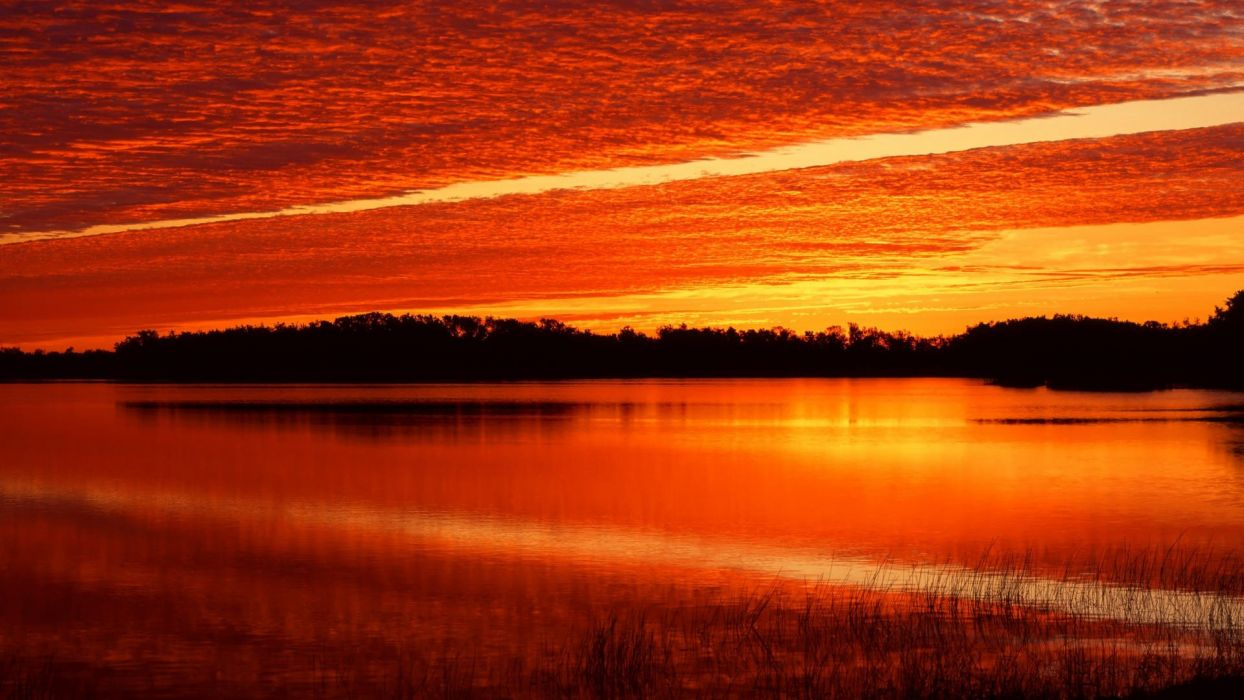 sunrise ponds Florida wallpaper
