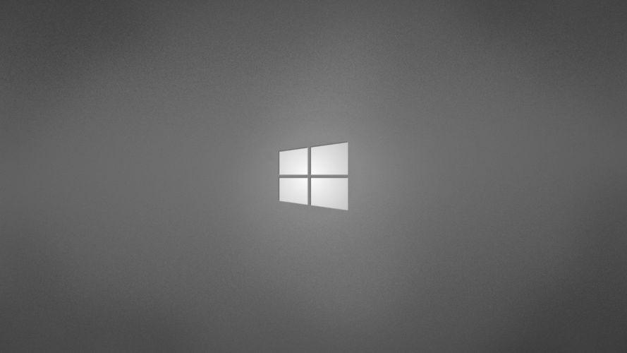 minimalistic gray grey operating systems windows logo windows wallpaper