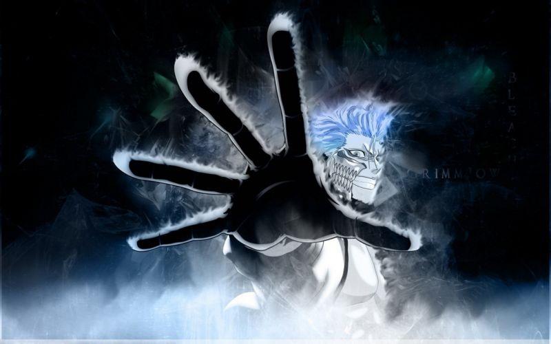 Bleach blue hair Espada Grimmjow Jaegerjaquez wallpaper
