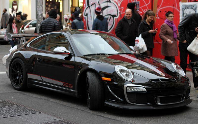 Porsche cars black cars wallpaper