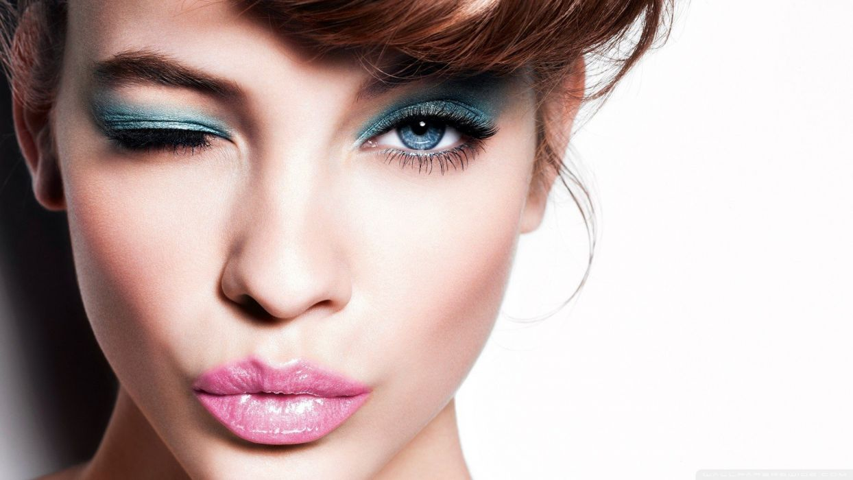 women eyes blue eyes mouth wallpaper