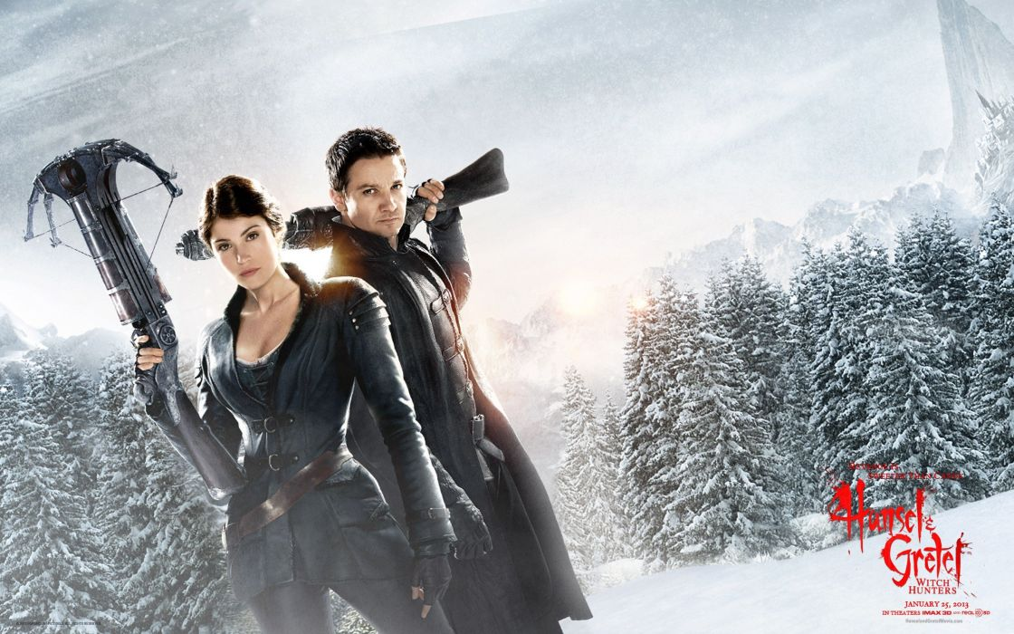 Gemma Arterton Jeremy Renner Hansel and Gretel: Witch Hunters wallpaper