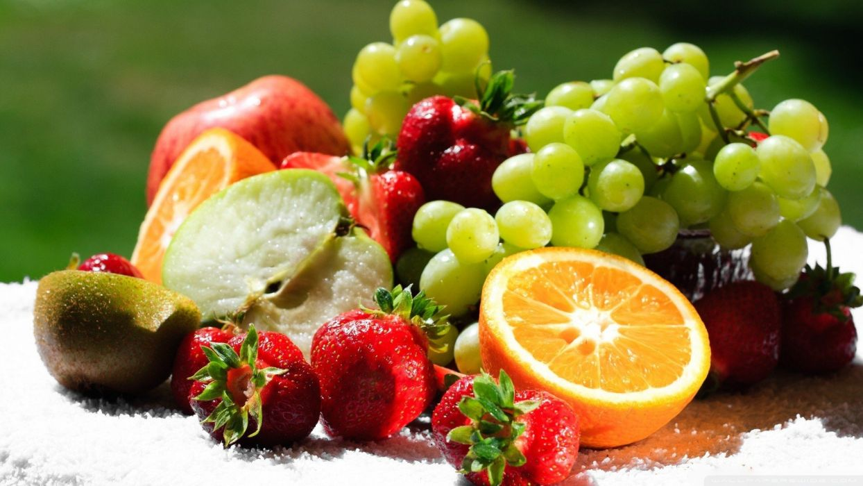 orange fruits healthy apples grape wallpaper