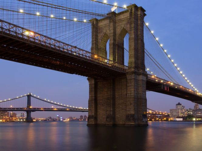 cityscapes bridges city lights wallpaper