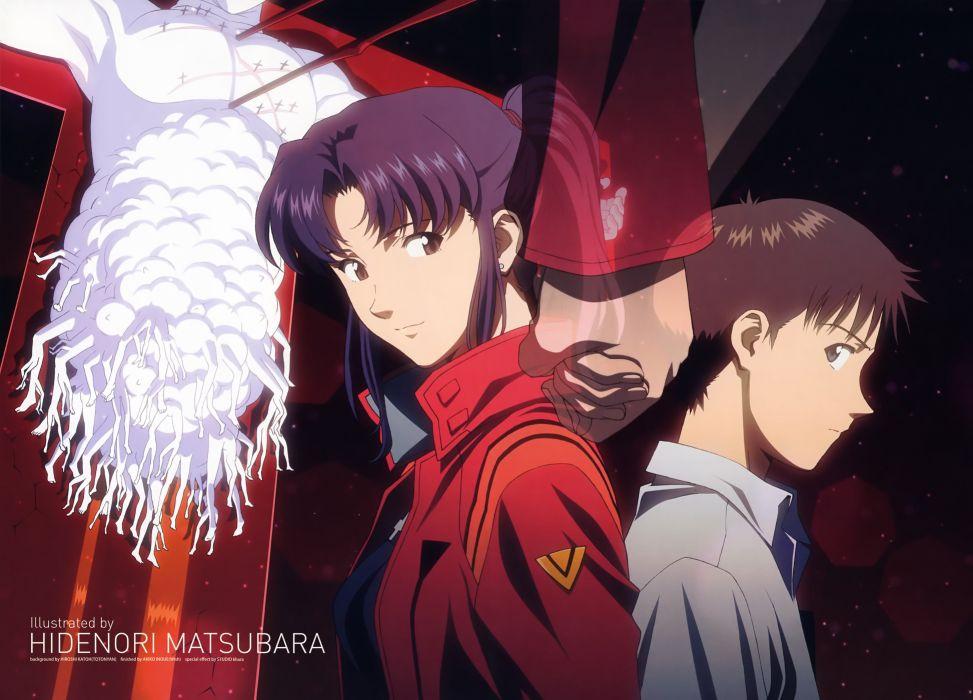Neon Genesis Evangelion Ikari Shinji Katsuragi Misato Wallpaper 4907x3532 260903 Wallpaperup