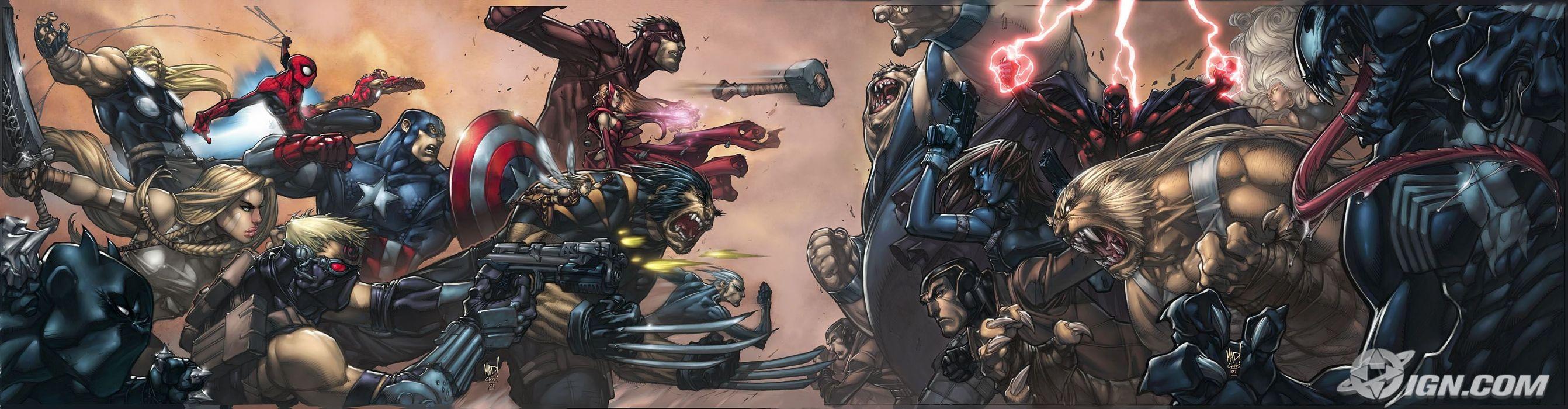 Venom Spider-Man Captain America Wolverine superheroes Magneto wallpaper