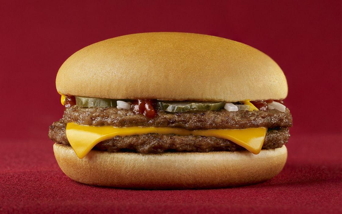food Mc Donalds hamburgers cheeseburgers wallpaper