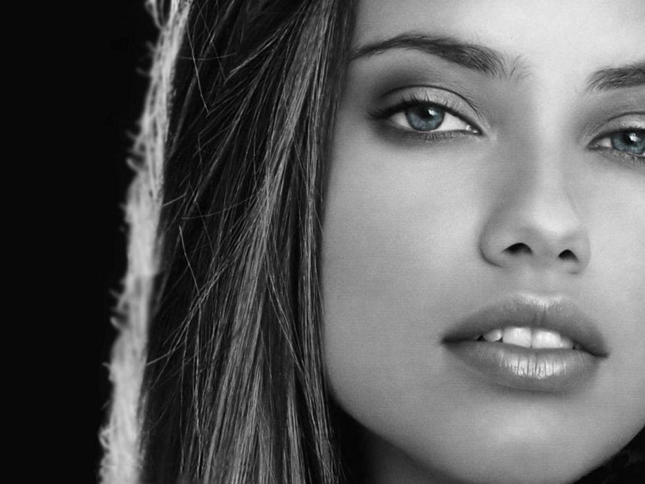 women Adriana Lima dark faces dark lady wallpaper