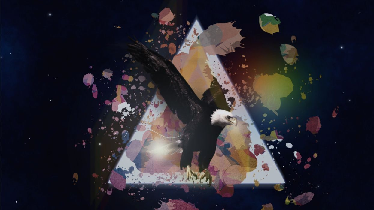 eagles digital art artwork Andrea triangles wallpaper