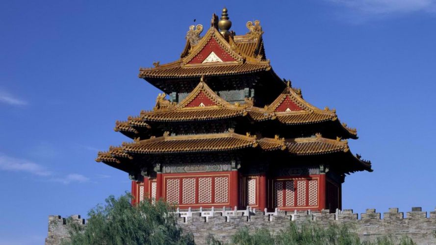 China west pagodas Beijing museum Asian architecture palace cities wallpaper