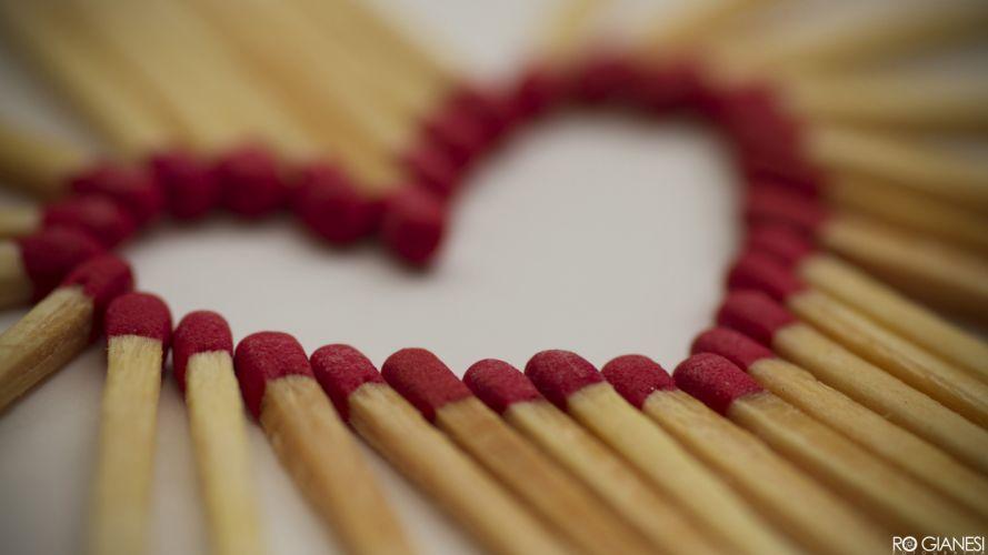 love macro matchsticks wallpaper