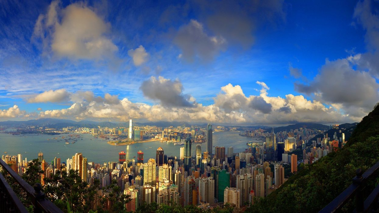 clouds cityscapes wallpaper