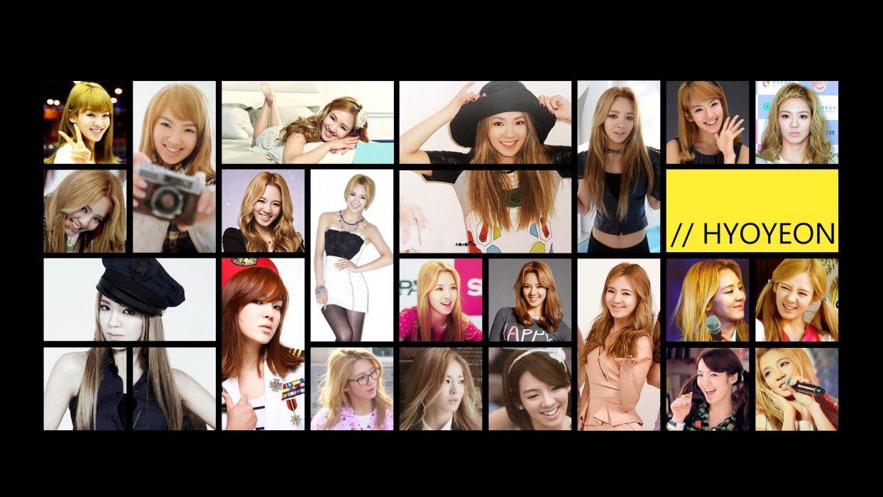 Girls Generation SNSD Asians Korean Kim Hyoyeon K-Pop wallpaper