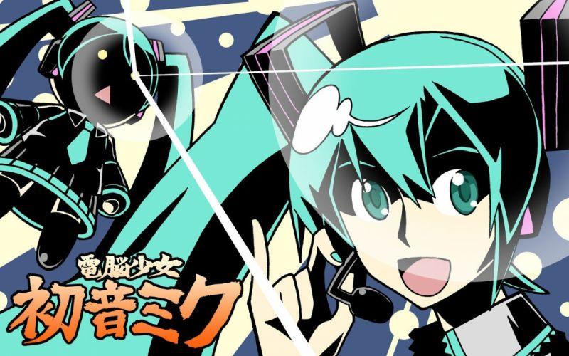 Vocaloid Hatsune Miku chibi Hachune Miku Vocaloid Fanmade wallpaper
