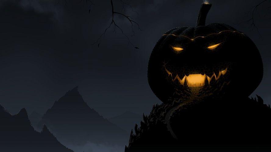 Halloween holidays Jack O Lantern pumpkins wallpaper