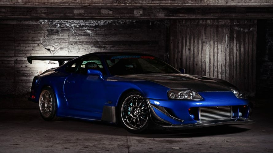 indoors cars Toyota parking vehicles tuning Toyota Supra spoiler sports car Toyota Supra Turbo wallpaper