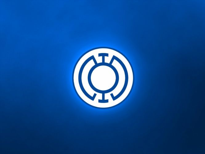 DC Comics logos Blue Lantern wallpaper